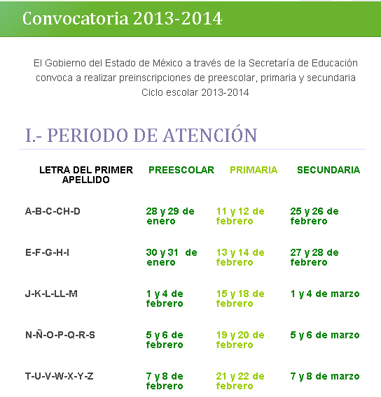 Preinscripciones SAID Primaria Preescolar Secundaria 2013-2014